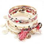 Floral Stacking Bracelet