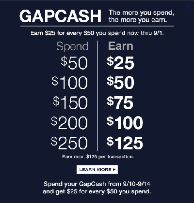 Mar 14,  · Gap Outlet is offering Style Cash this week through March Spend $50 get $25 in Style Cash or spend $ and get $ You will be able to redeem it April 10 through April
