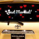 Just Married Vinyl Decal Set