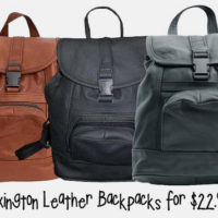 Lexington Leather Backpacks For $22.99