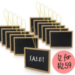 Mini Chalkboards 12 For $12.59 Shipped