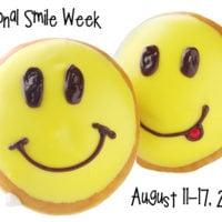 National Smile Week Spread Joy With Fun Face Doughnuts