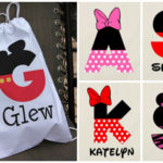 Personalized Disney Inspired Drawstring Bags