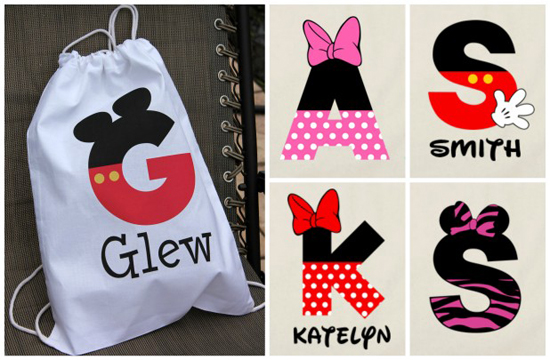 Personalized Disney Inspired Drawstring Bags For $8.50 - SheSaved®