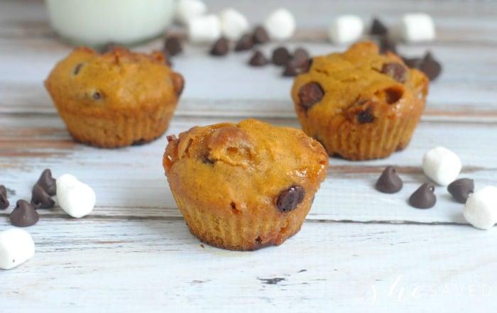 How to make Pumpkin Smore Muffins