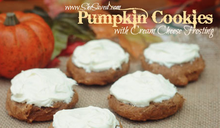 Easy Pumpkin Cookie Recipe with Cream Cheese Frosting