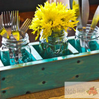 Wooden Table Caddy For $24.99
