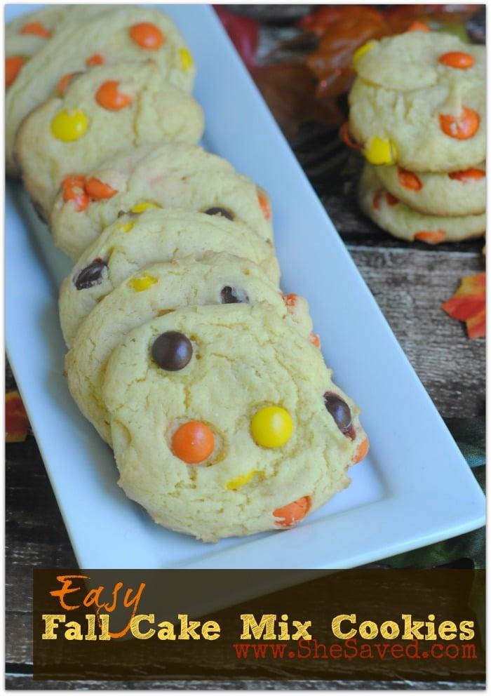 Fall Cake Mix Cookies