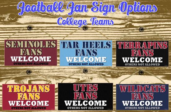 Football Team Signs
