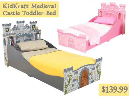 KidKraft Medieval Castle Toddler Bed For $139.99