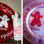Personalized Santa Cookie Plate Set
