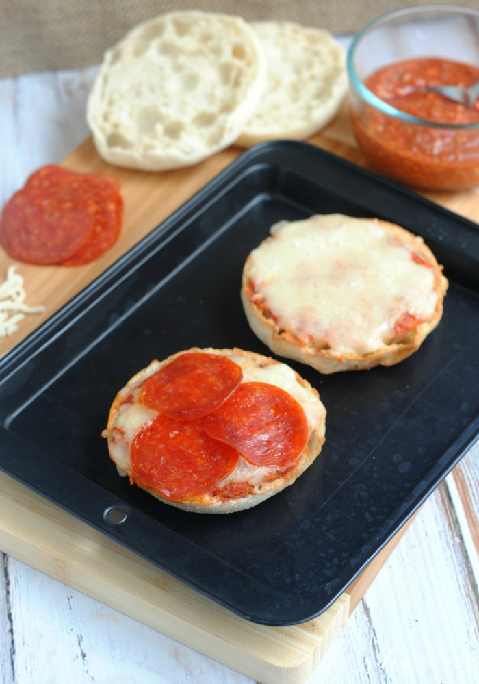 Pizza made from English Muffins