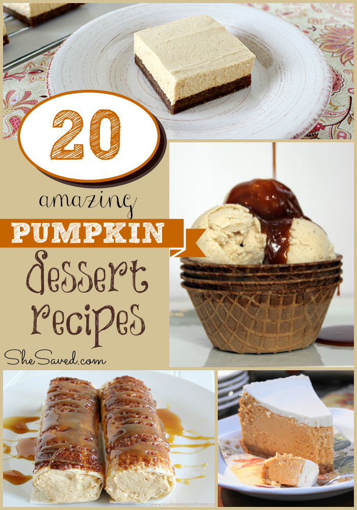 20 Amazing Pumpkin Dessert Recipes