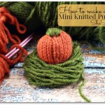 mini knitted pumpkin 1