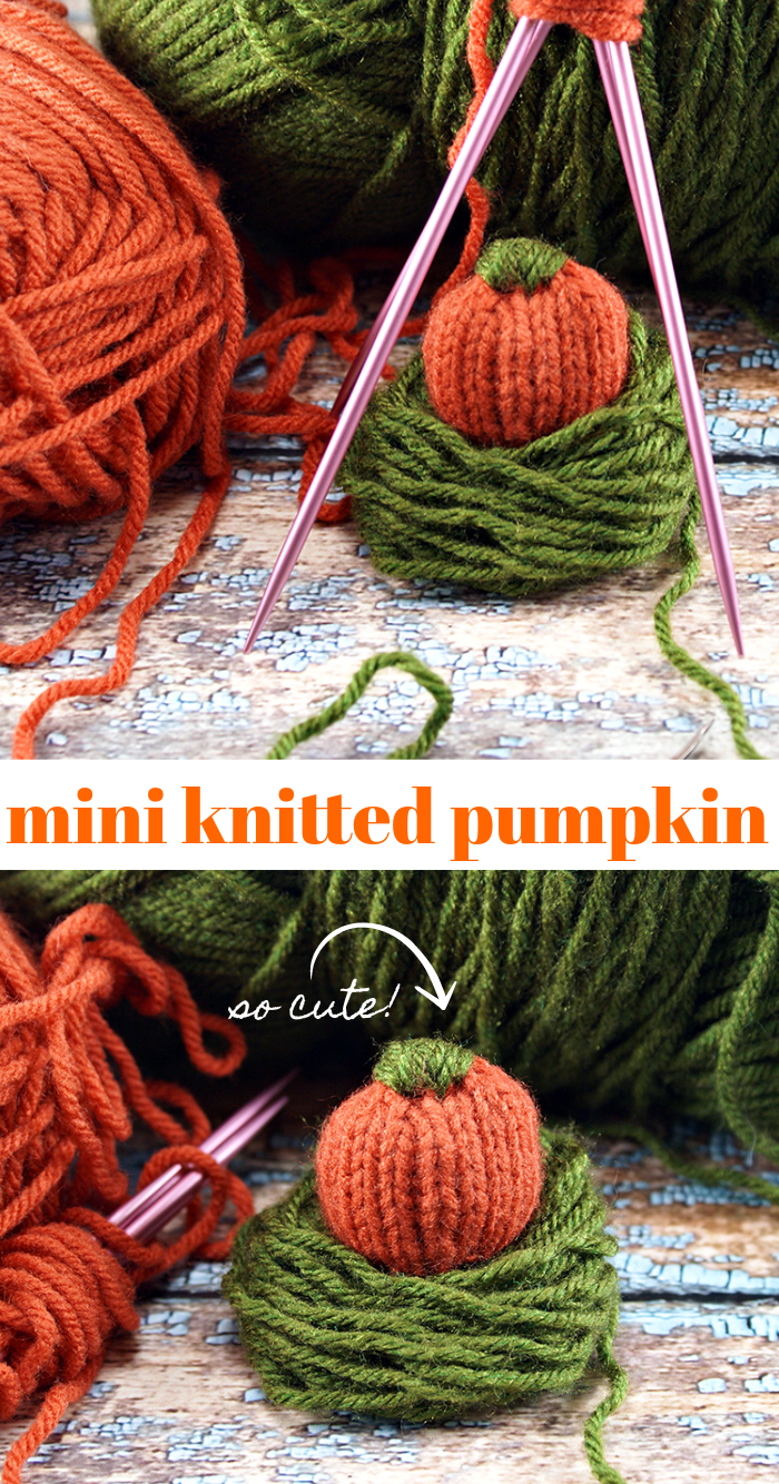 DIY Mini Knitted Pumpkin Pattern Craft