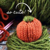 DIY Mini Knitted Pumpkin Pattern