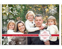 Custom Photo 5X7 Holiday Cards 10 For $1
