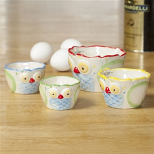 Dolomite Owl Measuring Cups