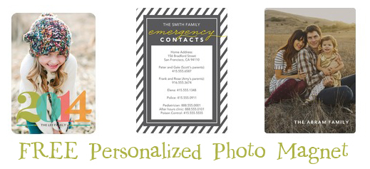 FREE Personalized Photo Magnet