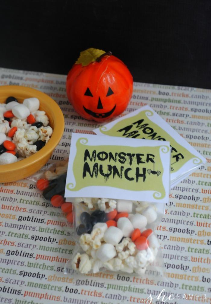 Monster Munch Free Printable