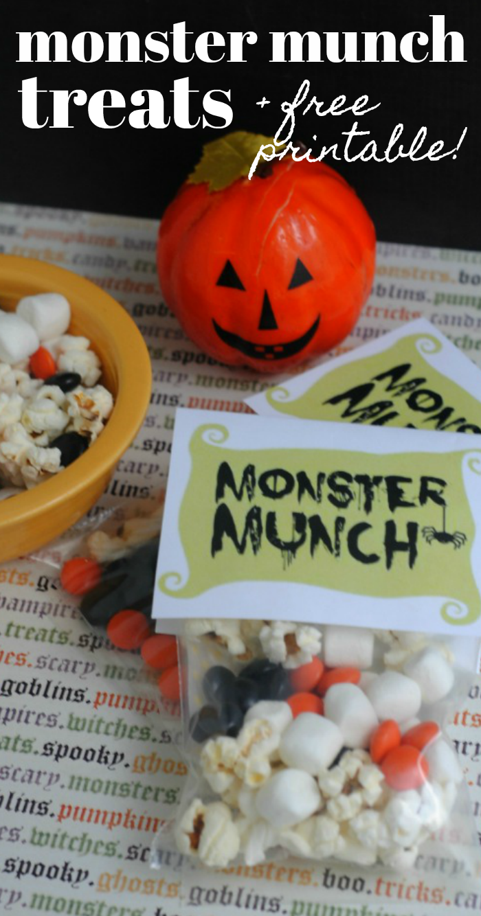 Monster Munch Treats and FREE printable