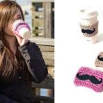 Mustache Crochet Coffee Sleeves