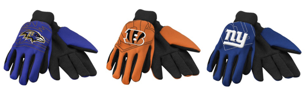 NFL Raised Logo Gloves