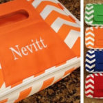 Personalized Chevron Insulated Carriers