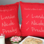 Personalized Naughty & Nice Pillow Covers