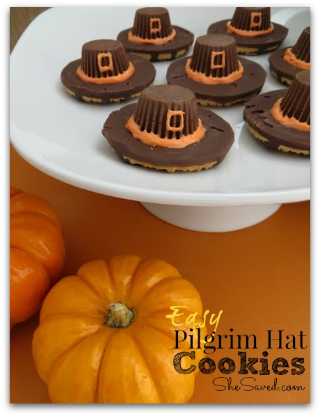 These easy Pilgrim Hat Cookies are so fun to make and they are a great treat for your Thanksgiving feast or classroom party!