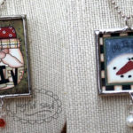 Santa and Snowman Necklaces