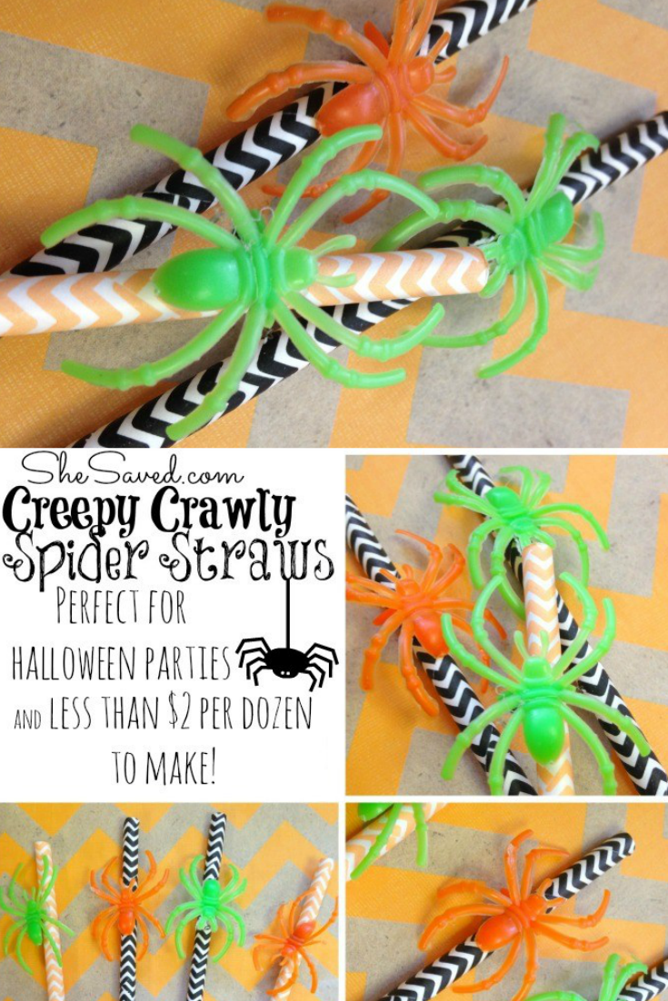 These Halloween Spider Straws are easy, affordable and spooky fun!