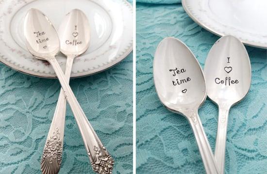 Vintage Hand Stamped Spoons