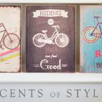 Vintage Wooden Bicycle Signs
