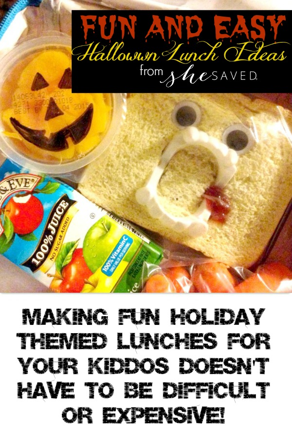 Looking for fun Halloween Lunch Ideas for the kid? Here are a few very simple but spooky ideas that will make lunch fun and spooktacular!