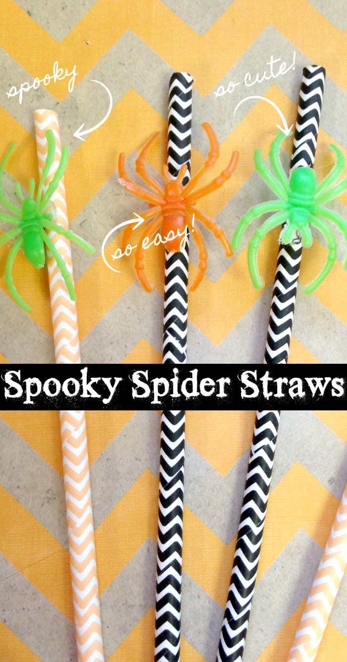 How to make spooky spider straws for your Halloween party