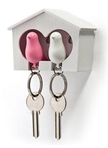 Birdhouse Key Ring Holder