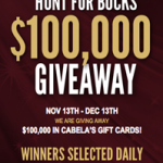 Cabela's Hunt For Bucks Giveaway