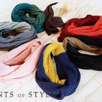 Color Blocked Knit Infinity Scarf