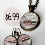 Custom City Necklaces & Earrings