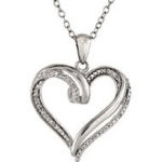Diamond Accent Sterling Silver Pendants For $19.99 Shipped