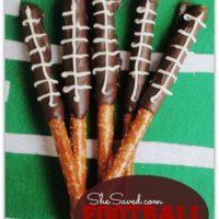 Tailgate Snack Idea! Football Pretzel Sticks