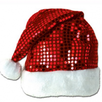 Sequin Santa Hat For $4.80 + FREE Shipping
