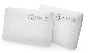 Somus Memory Foam Supreme Pillows Two Pack for $44