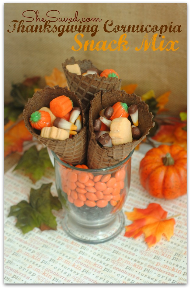 Thanksgiving Cornucopia Snack Mix