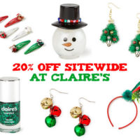 Claire's Veterans Day Flash Sale Save 20% Off Sitewide