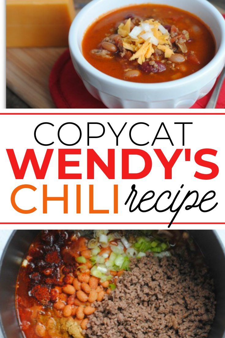 cCopycat wendy's chili recipe