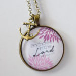 Anchored in the Lord Scripture Pendant