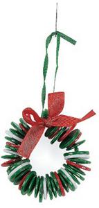 Button Wreath Ornament Craft Kit