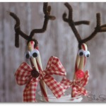 Country Candy Cane Reindeer Craft